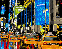 """Maxwell Dickson """"Rainy Nights"""" Times Square New York Canvas Print Artwork modern-prints-and-posters"""