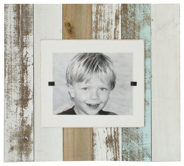 White Wood Frame : White Wash Reclaimed Wood Frame - Tropical - Picture Frames - other ...