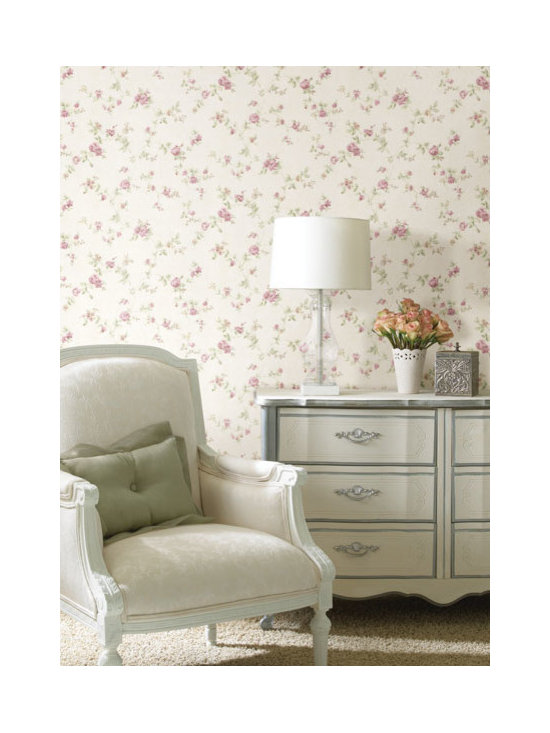 Vintage Wallpaper - Pretty vintage floral available from Brewster Home Fashions