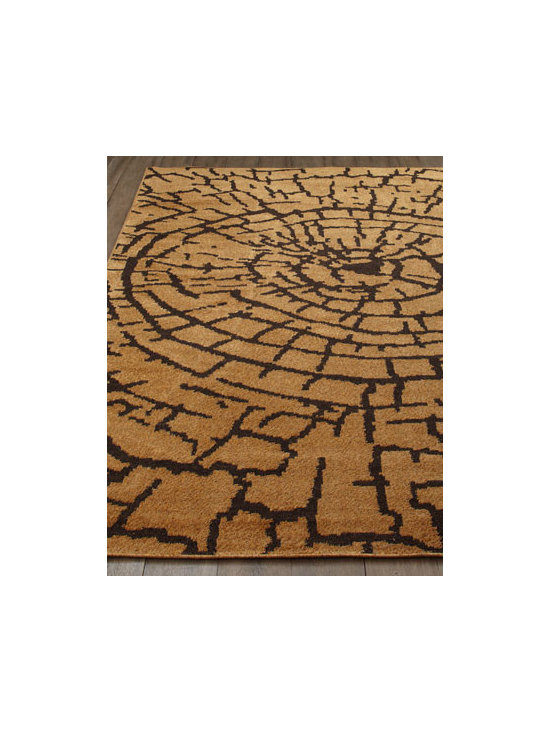 "Safavieh - Safavieh ""Earth"" Rug - An elemental design grounded in nature gives this rug a strong presence in any room. Warm earth tones add to its contemporary appeal. Power loomed of polyester. Cotton backing. Sizes are approximate. Imported. See our Rug Guide for tips on how...."