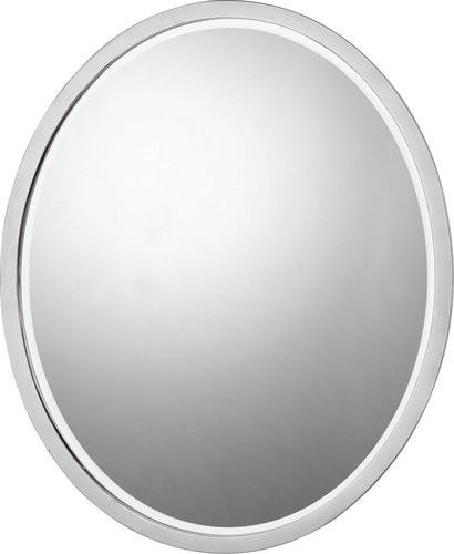 Quoizel Qr42420bn Brushed Nickel Soho Contemporary Oval Mirror Contemporary Bathroom Mirrors