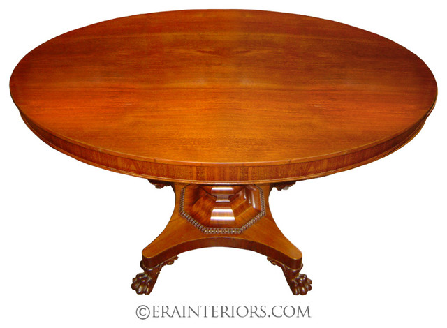Georgian Round Dining Table with Claw Feet traditional-dining-tables