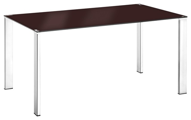 Zuo Slim Espresso Dining Table Contemporary Dining Tables