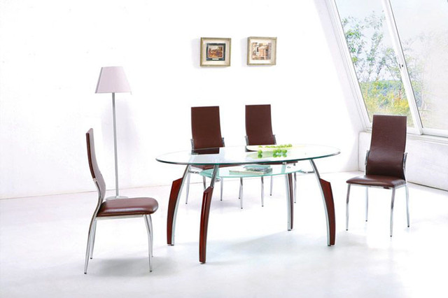 Contemporary Oval Furniture Dining Set - modern - dining tables ...