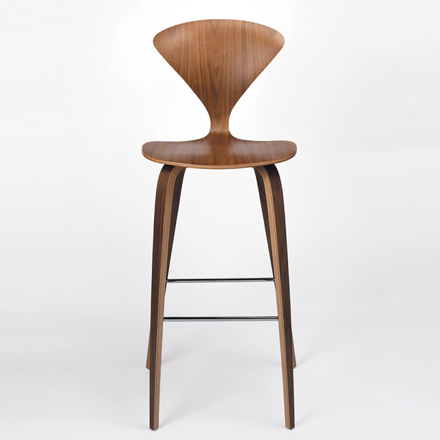 Modern Wood Bar Stools ~ Cherner chair wood base stool bar modern stools