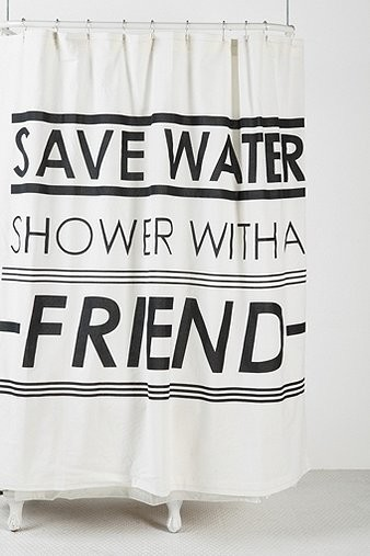 Save Water Shower Curtain contemporary-shower-curtains