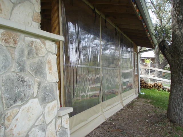 Clear Vinyl Curtains For Porch Removable Patio Enclosures