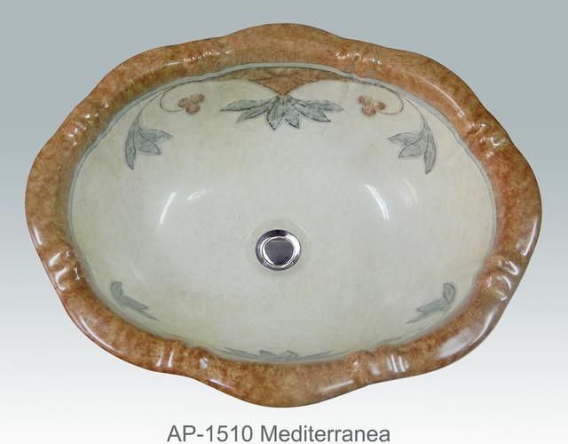 Hand Painted Sinks : Hand Painted Drop-in Sinks by Atlantis mediterranean-bathroom-sinks