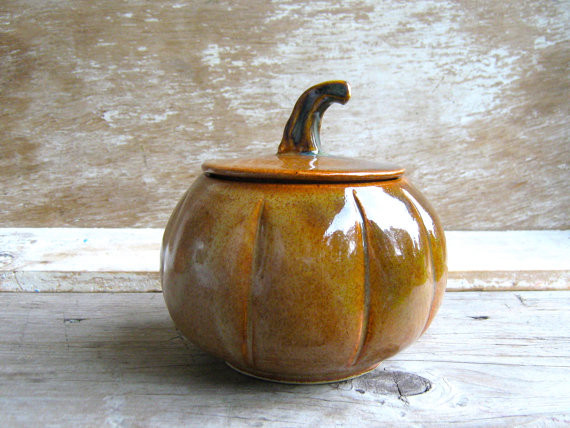 Pumpkin Jar by Ant's Pottery traditional-food-containers-and-storage