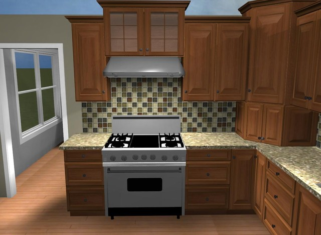 Rendered Images traditional kitchen