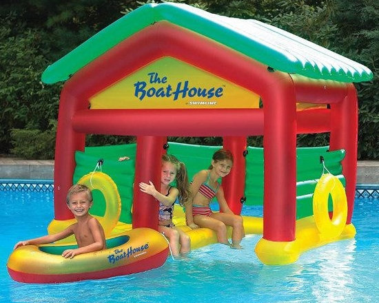 "The Boathouse Floating Habitat for Kids - -Dimensions: 78"" L x 45"" W x 63"" H"