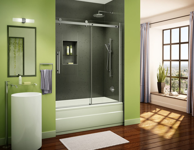 Waimea Frameless Sliding Shower Doors Contemporary Bathroom