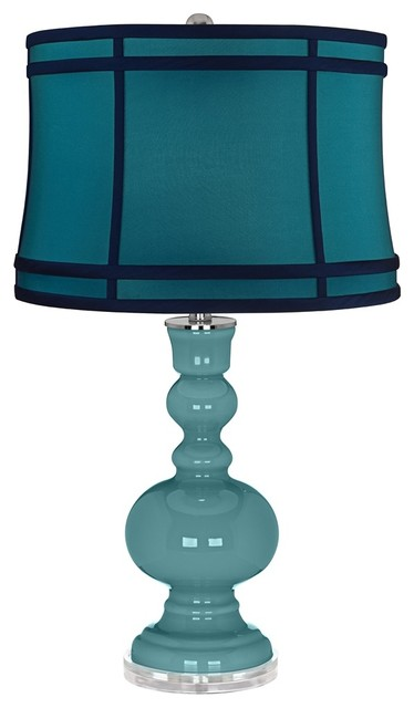 reflecting pool teal colorblock shade apothecary table. Black Bedroom Furniture Sets. Home Design Ideas