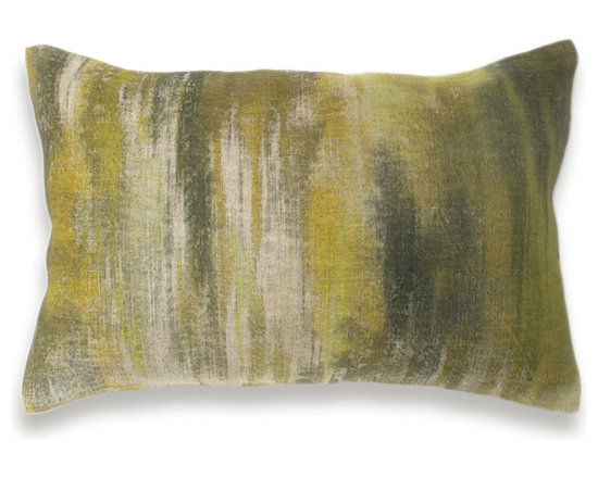 Yellow Lime Olive Green Khaki Beige Pillow Cover 12x18 inch Natural Linen -