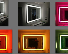 Chromotherapy Mirror - Light up electric mirror modern