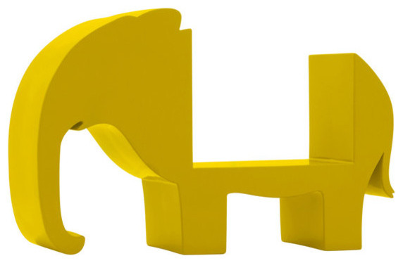 Elephant in Lemon Bookshelf by DwellStudio contemporary kids decor