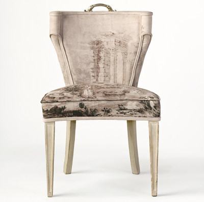 Tara Shaw Maison Grisaille Mid Century Chair eclectic-living-room-chairs