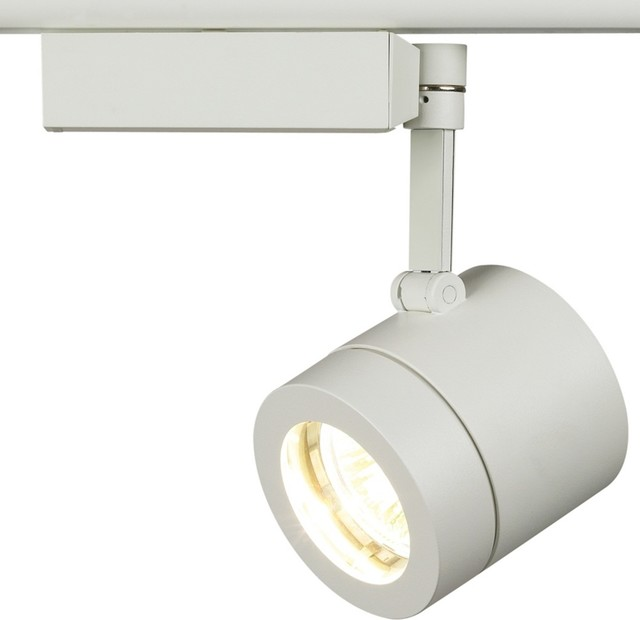 Contemporary Lightolier Classic White Cylinder Track Light - Contemporary - Track Lighting - by ...