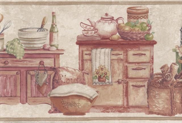 wooden kitchen wall wallpaper - photo #29