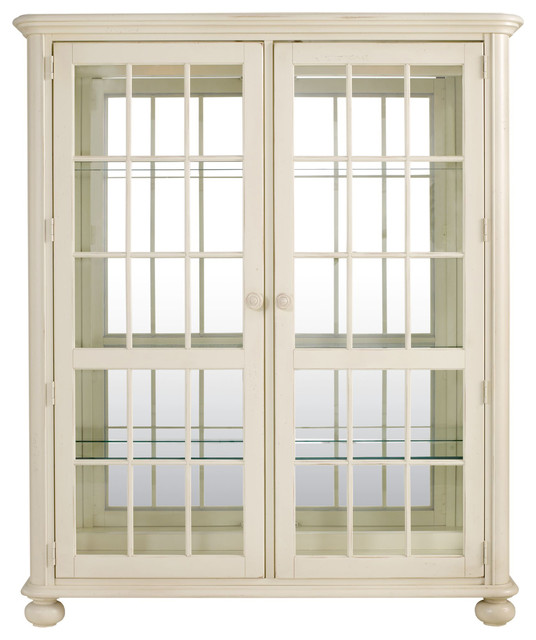 Coastal Living Cottage Newport Glass and Mirror China Cabinet contemporary-medicine-cabinets