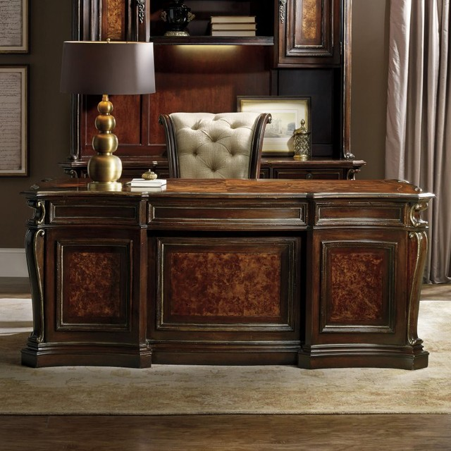 Hooker Furniture Grand Palais Executive Desk - Brown - 5272-10563 - Contemporary - Desks And ...