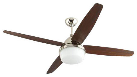 Montecarlo Mondeo Ceiling Fan in Polished Nickel contemporary-ceiling-fans