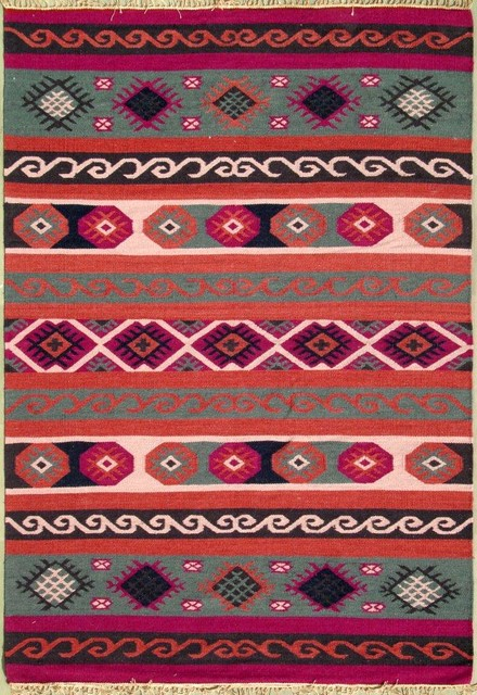 Heritage Kilims In Fashion Colors mediterranean-rugs