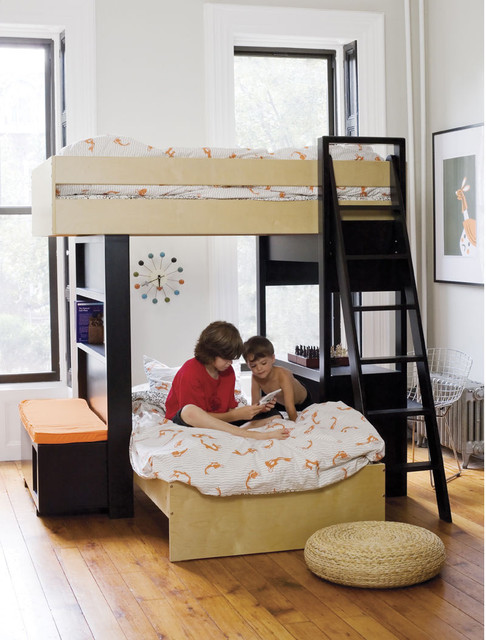 Argington Uffizi Bunk Bed with Bench modern kids beds