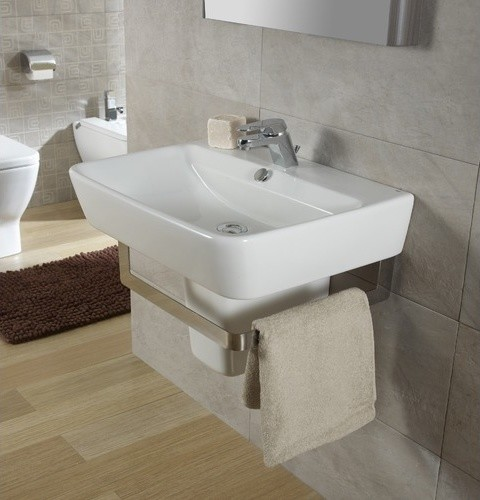 wall hung bathroom sink with optional towel bar modern bath products