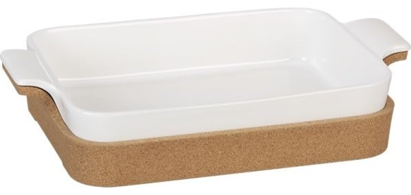 Rectangular Baker With Cork contemporary-bakeware
