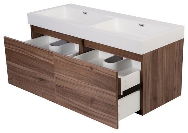 "47"" Tephra Modern Wall Hung Double Sink Bathroom Vanity - Modern - Bathroom Vanities And Sink ..."