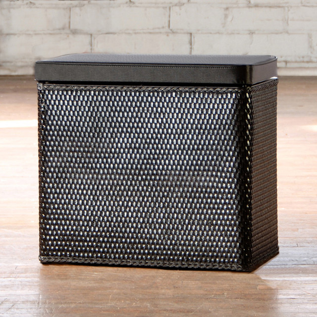 Carter Black Bench Laundry Hamper Contemporary Hampers By