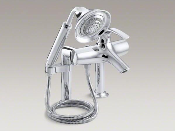 KOHLER Symbol R Deck Mount Bath Faucet With Diverter Spout And Handshower