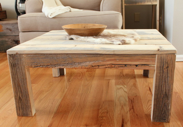 wooden coffee table construction