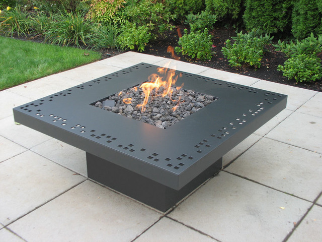Square Geometry contemporary-fire-pits