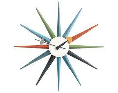 Starburst Clock by George Nelson clocks