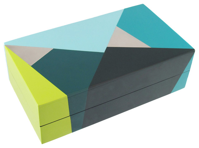 contemporary storage boxes by Kelly Wearstler