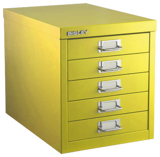 Bisley Five-Drawer Cabinet  filing cabinets and carts