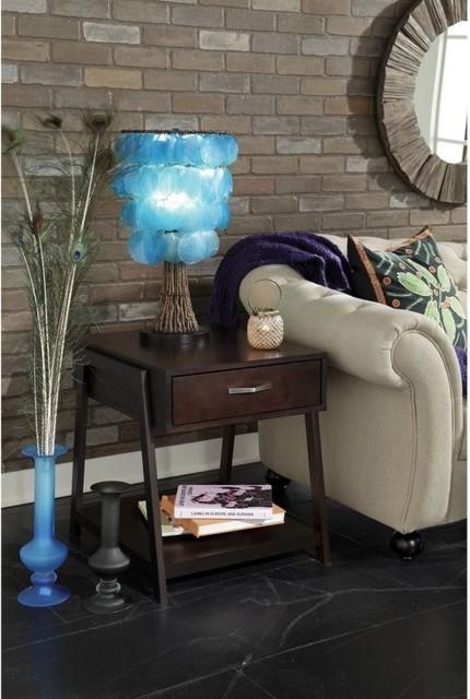 Bush Signature Canted-Style Rectangle Macchiata Wood Storage End Table Multicolo modern-furniture