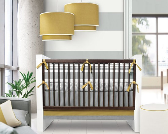 Oilo Stone & Citron Triple Band Crib Set - Oilo Stone & Citron Triple Band Crib Set