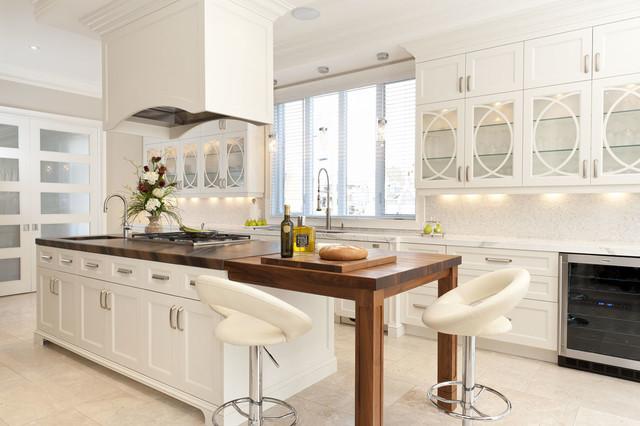 White velvet laquer Kitchen traditional-kitchen-cabinetry
