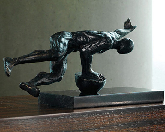 """Push Up Sculpture - Shipping is included in the price! A beautiful iron sculpture from Global Views. Dimensions: 12""""w x 4""""d x 6""""h"""