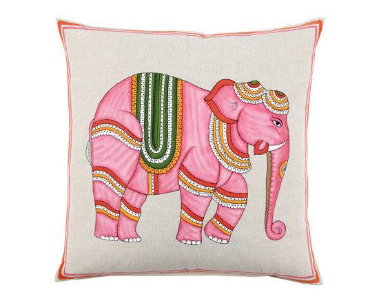 Pink Elephant Decorative Pillow -