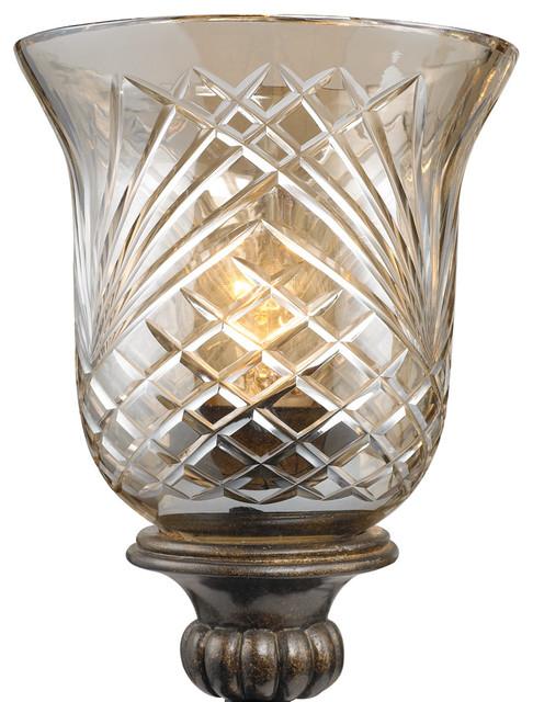 Alston Place - Crystal Glass Burnt Sienna