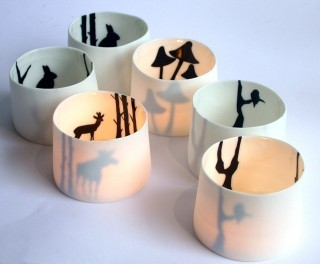 Anna-Carin Dahl Tealight Holders modern-candles-and-candleholders