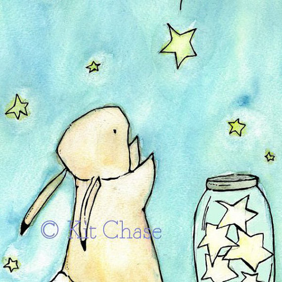 Trafalgar Rabbit Catch A Falling Star by Trafalgar's Square traditional-nursery-decor