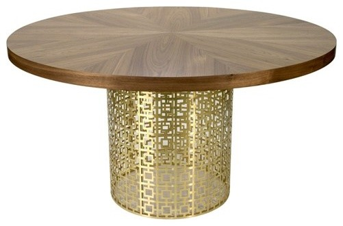 Jonathan Adler Nixon Brass Dining Table eclectic dining tables