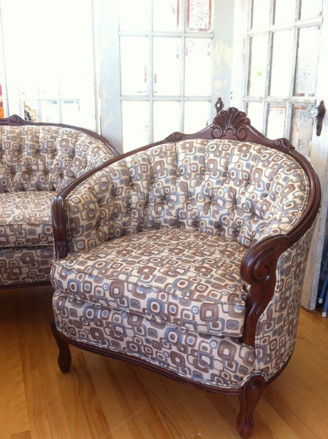 James Residence traditional-living-room-chairs