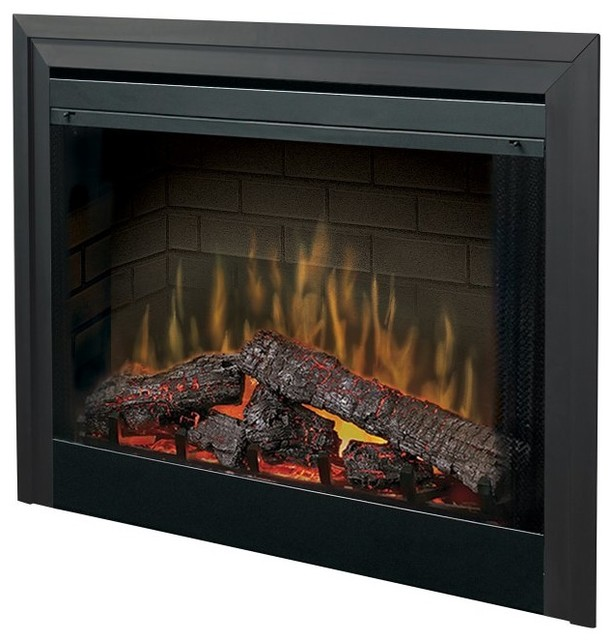 Dimplex 39 in built in electric fireplace insert - Contemporary electric fireplace insert accessories ...