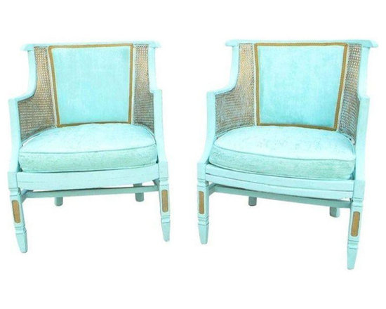 Rehabbed Bamboo & Cane Chairs - A Pair - Dimensions 23.0ʺW × 21.0ʺD × 32.0ʺH